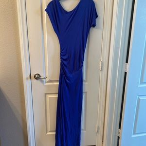 Extra small full length gown in brilliant blue